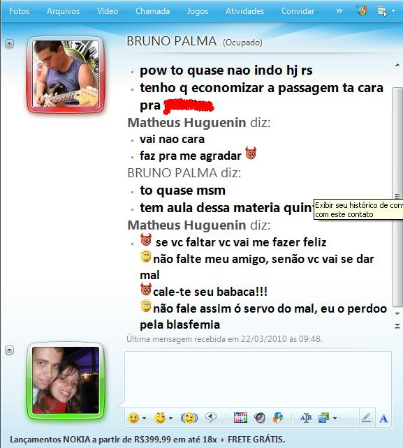 conversas de msn 7 ningu m me recombate. Black Bedroom Furniture Sets. Home Design Ideas